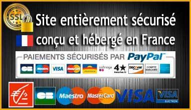 Site et paiment sécurisés par SSL